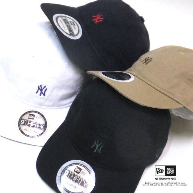 ニューエラ NEW ERA キャップ 帽子 メンズ レディース 9THIRTY ウォッシュドコットン ニューヨーク・ヤンキース ミニロゴ 2トーンストラップ 2020SS