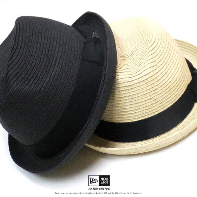 ニューエラ NEW ERA ストローハット 麦わら帽子 メンズ レディース フェドーラ グログランバンド ペーパーロープ 2020SS