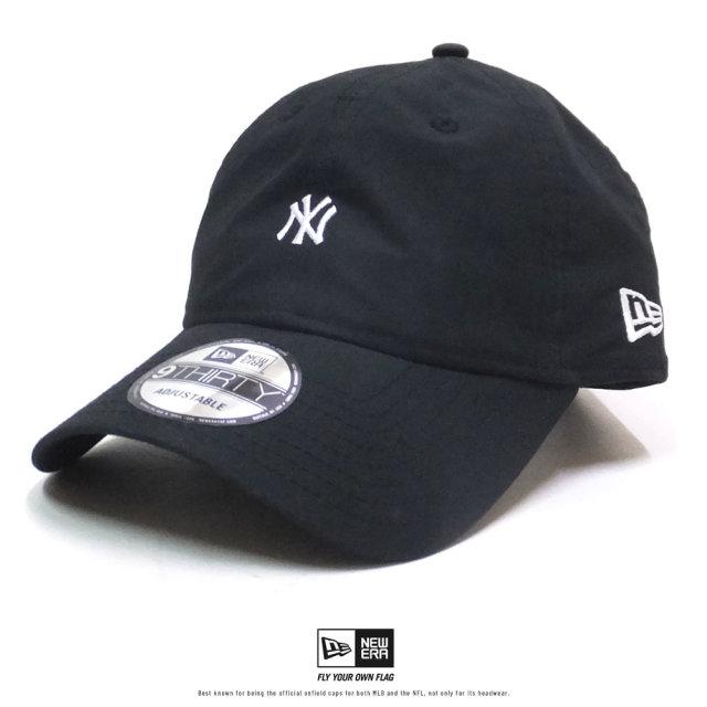 NEW ERA (ニューエラ) キャップ 9THIRTY タイプライター ニューヨーク・ヤンキース ミニロゴ ブラック (12326337)
