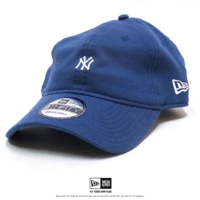 NEW ERA (ニューエラ) キャップ 9THIRTY スウェット ニューヨーク・ヤンキース ミニロゴ ネイビー×ホワイト (12326342)