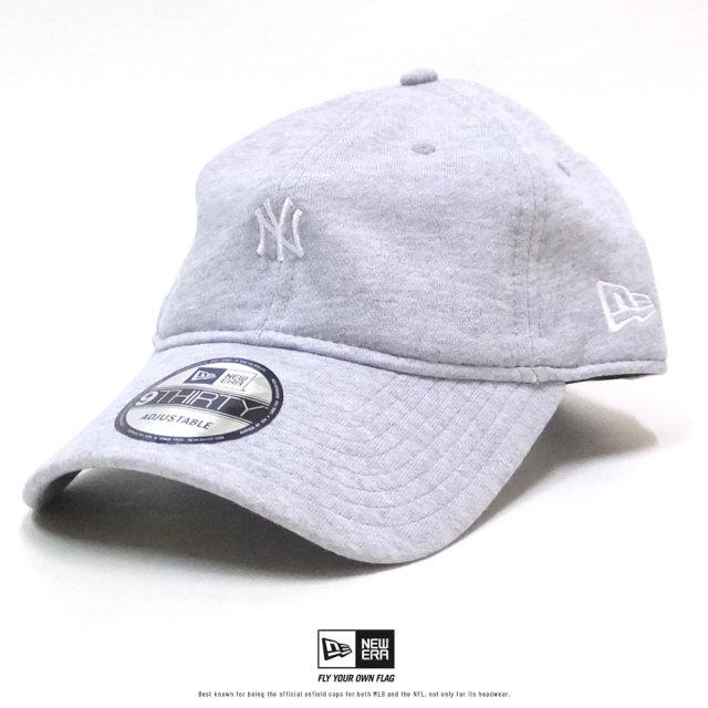 NEW ERA (ニューエラ) キャップ 9THIRTY スウェット ニューヨーク・ヤンキース ミニロゴ グレー×ホワイト (12326344)