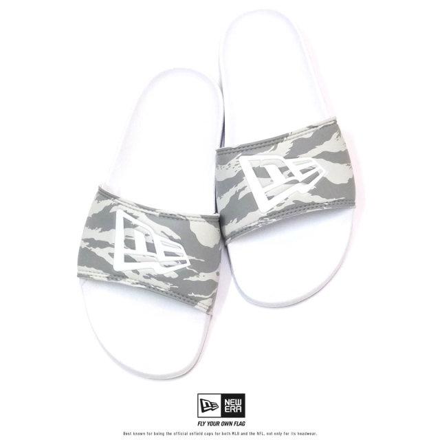 NEW ERA (ニューエラ) シャワーサンダル ニューエラフラッグ タイガーストライプカモグレー×ホワイト (12325630)