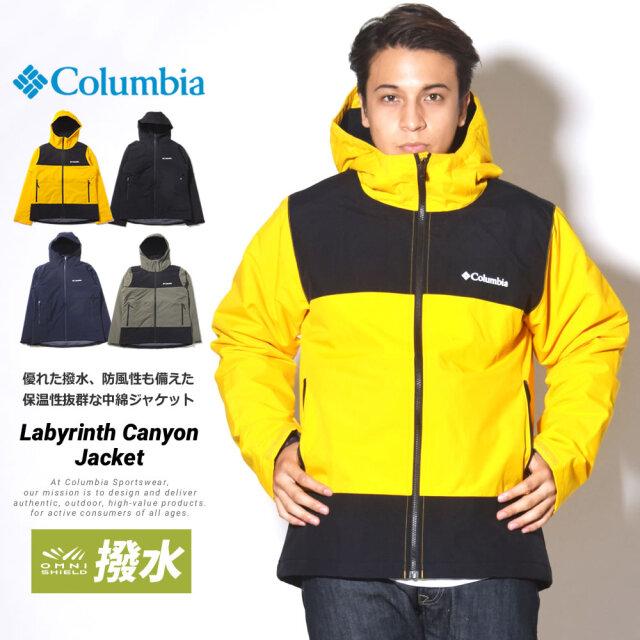 コロンビア Columbia マウンテンパーカー 化繊中綿ダウンジャケット メンズ 撥水 速乾 ラビリンスキャニオン ジャケット PM3843