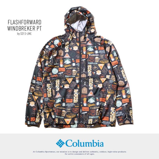 コロンビア ウインドブレーカー ジャケット メンズ アウター 柄 Columbia フラッシュフォワードウインドブレーカー KE3974 21SS 春 新作