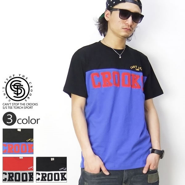 CAN'T STOP THE CROOKS Tシャツ TORCH SPORT