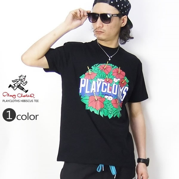 PLAY CLOTHS Tシャツ HIBISCUS 631-5203