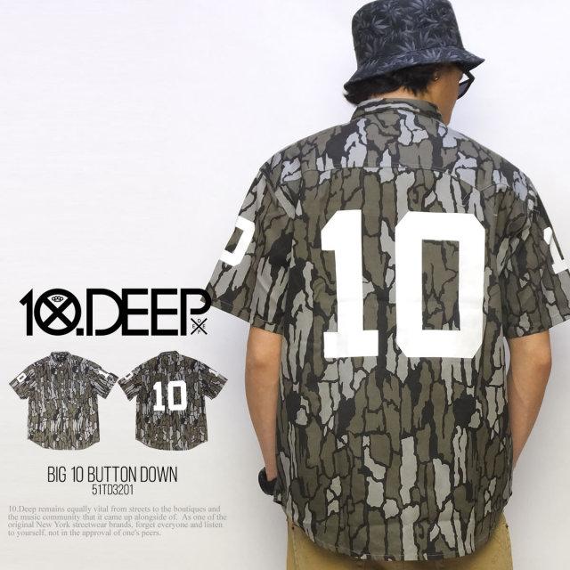 10DEEP テンディープ 半袖シャツ BIG 10 BUTTON DOWN 51TD3201 5V1305