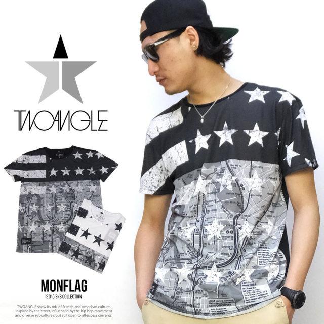 TWO ANGEL トゥーアングル 半袖Tシャツ MONFLAG 5V1339
