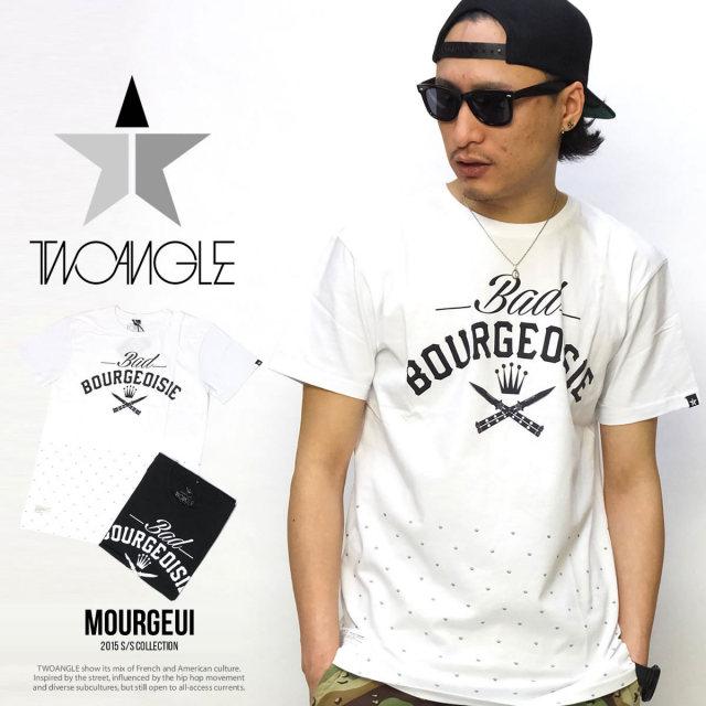 TWO ANGEL トゥーアングル 半袖Tシャツ MOURGEOIS 5V1340