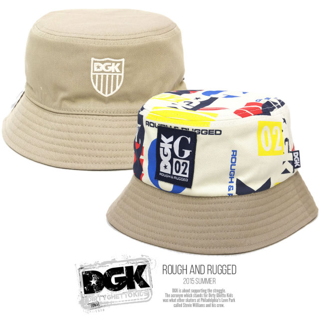 DGK ディージーケー バケットハット ROUGH AND RUGGED DH-749 5V3197