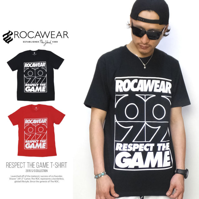ROCA WEAR ロカウェア 半袖Tシャツ RESPECT THE GAME T-SHIRT R0015T04  5V3237