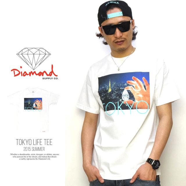 DIAMOND SUPPLY CO ダイヤモンドサプライ 半袖Tシャツ TOKYO LIFE TEE B15DPA14 5V3266