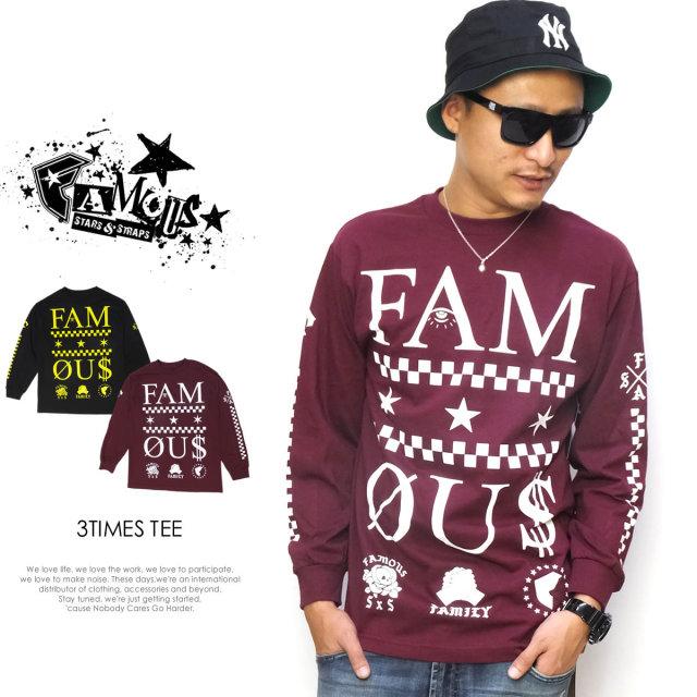 FAMOUS STARS & STRAPS フェイマススターズアンドストラップス 長袖Tシャツ 3TIMES TEE FM03150058 5V5135