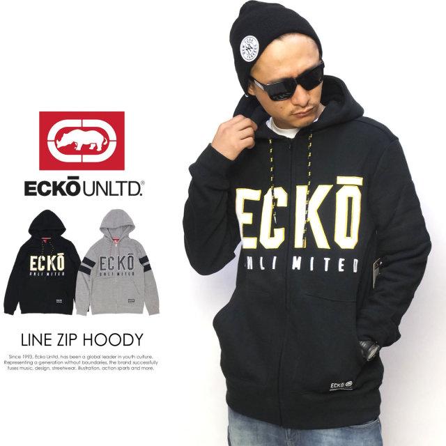 ECKO UNLTD エコーアンリミテッド ジップパーカー LINE ZIP HOODY EF-F10019 5V5231