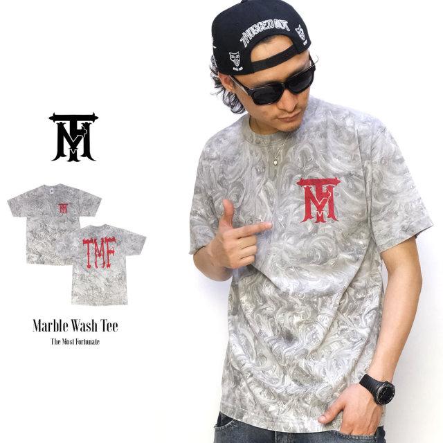 THE MOST FORTUNATE ザ・モストフォーチュネイト 半袖Tシャツ MARBLE WASH TEE 5V6036