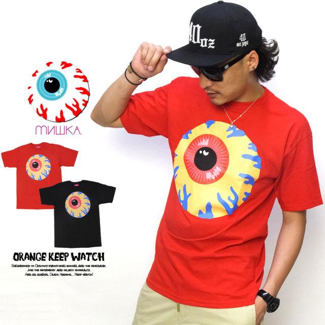 MISHKA ミシカ 半袖Tシャツ ORANGE KEEP WATCH EX151177 5V6059