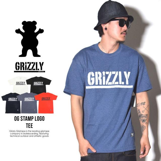 Grizzly Griptape (グリズリーグリップテープ) 半袖Tシャツ OG STAMP LOGO TEE (ZOOGPA98)