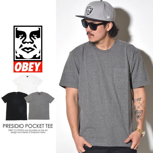 OBEY オベイ 半袖TEEシャツ PRESIDIO POCKET TEE 131080136 6V1207