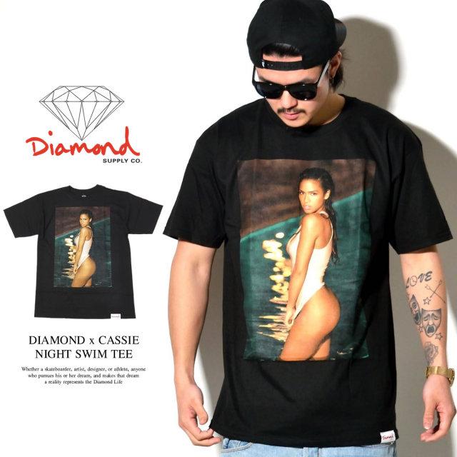 DIAMOND SUPPLY CO ダイヤモンドサプライ 半袖Tシャツ DIAMOND × CASSIE NIGHT SWIM TEE A16DMPA52 6V1233