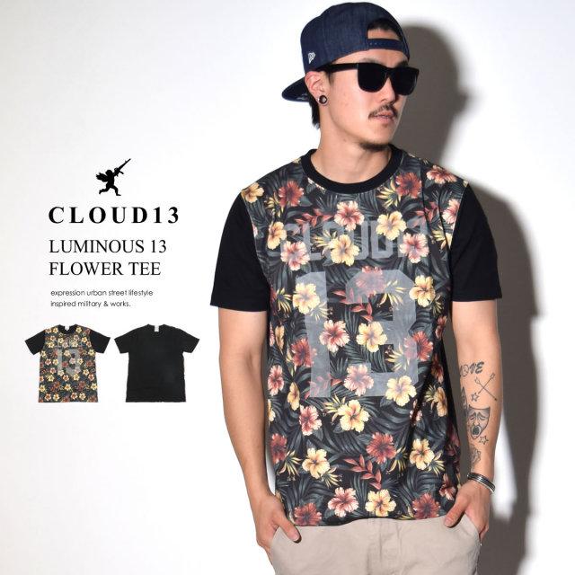 CLOUD13 クラウドサーティーン 半袖Tシャツ LUMINOUS 13 FLOWER TEE 35622004 6V3104