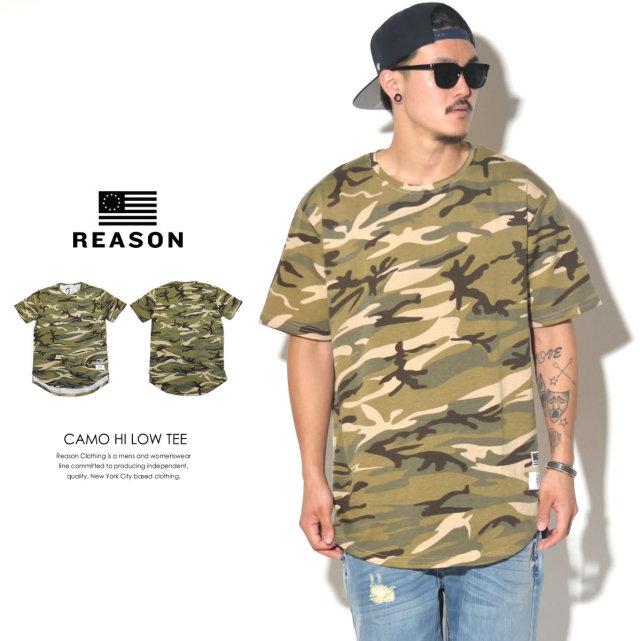 REASON リーズン 半袖Tシャツ CAMO HI LOW TEE 545-015 6V3230