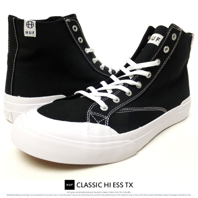 HUF ハフ スニーカー CLASSIC HI ESS TX BLACK VCBSC011 6V5079