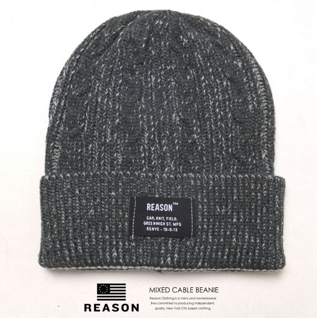 REASON リーズン ニットキャップ MIXED CABLE BEANIE 5455-162 6V5275
