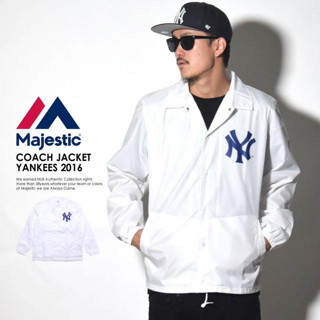 MAJESTIC マジェスティック コーチジャケット 2016 MODEL COACH JACKET YANKEES MM23-NYK-0090 6V5288