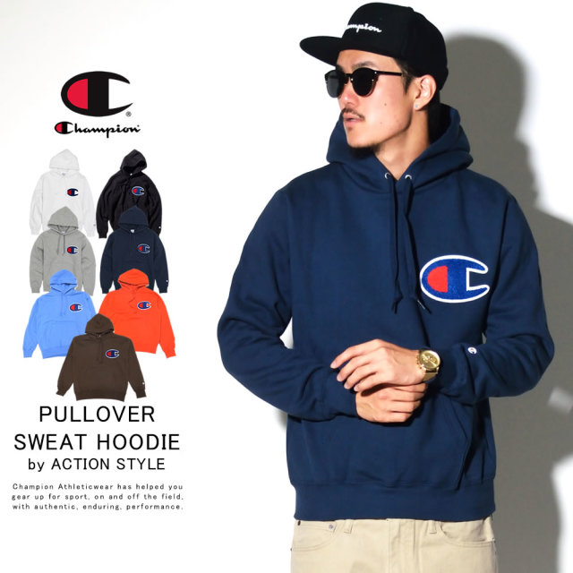CHAMPION チャンピオン プルオーバーパーカー BIG LOGO PULLOVER HOODED SWEATSHIRT C3-E127 6V5352