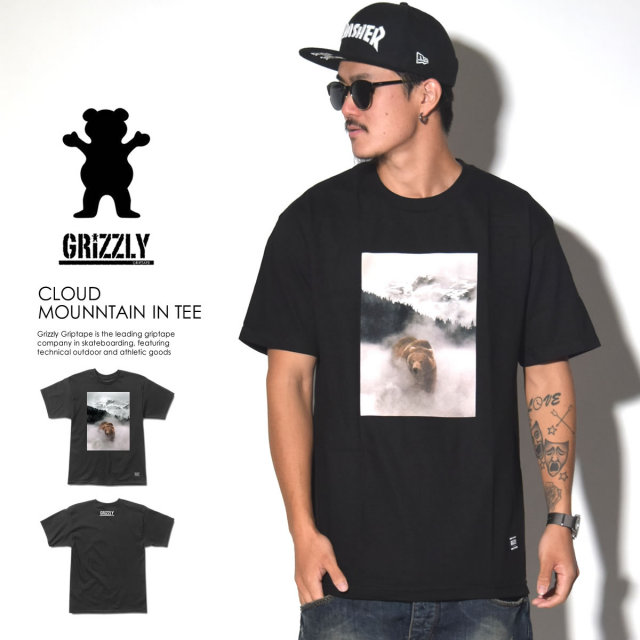 GRIZZLY グリズリー 半袖Tシャツ CLOUD MOUNNTAIN IN TEE GMD1601P14 6V7105