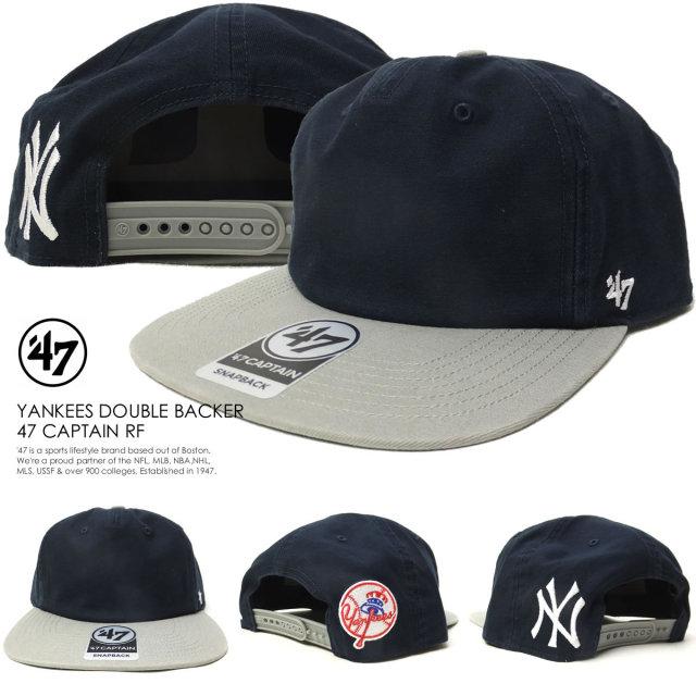 フォーティーセブンブランド 47BRAND キャップ 帽子 メンズ ニューヨーク・ヤンキース YANKEES DOUBLE BACKER 47 CAPTAIN RF (B-DBLBK17GWP-NY)