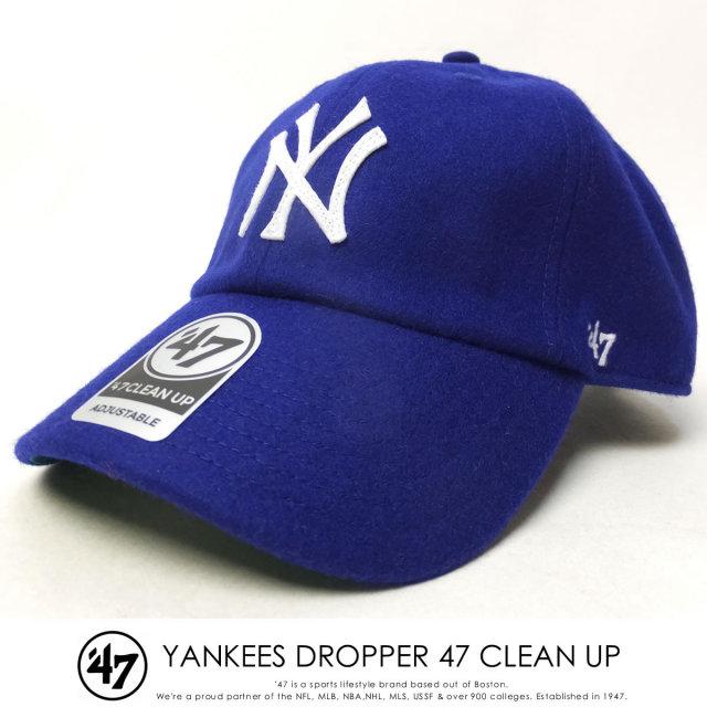 フォーティーセブンブランド 47BRAND キャップ 帽子 メンズ ニューヨーク・ヤンキース YANKEES DROPPER 47 CLEAN UP ブルー (B-DRPER17WMH-RY)