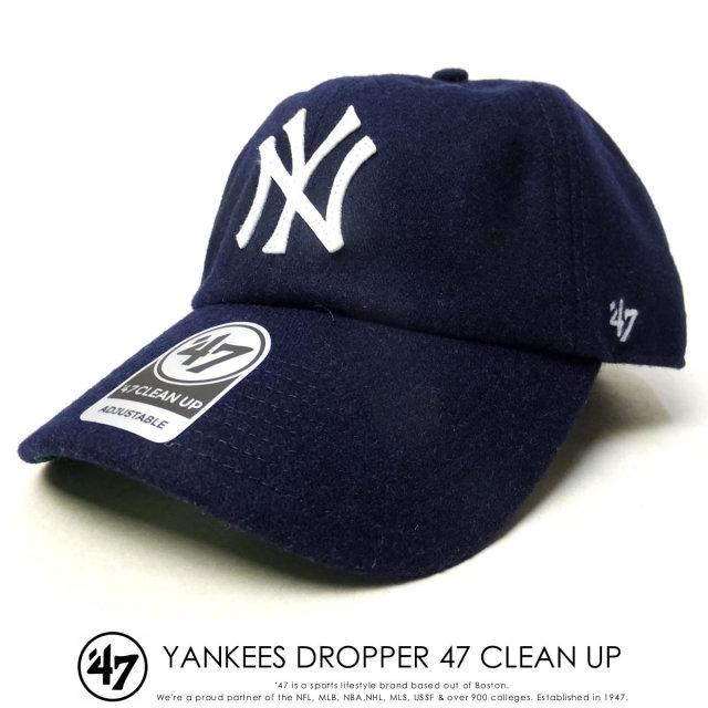 フォーティーセブンブランド 47BRAND キャップ 帽子 メンズ ニューヨーク・ヤンキース YANKEES DROPPER 47 CLEAN UP ネイビー (B-DRPER17WMH-NY)
