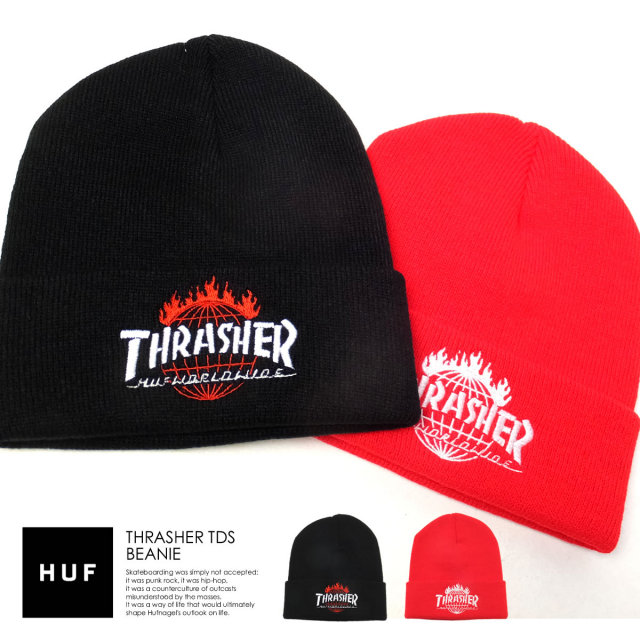 HUF ハフ ニットキャップ THRASHER TDS BEANIE DHT65M01 6V7222