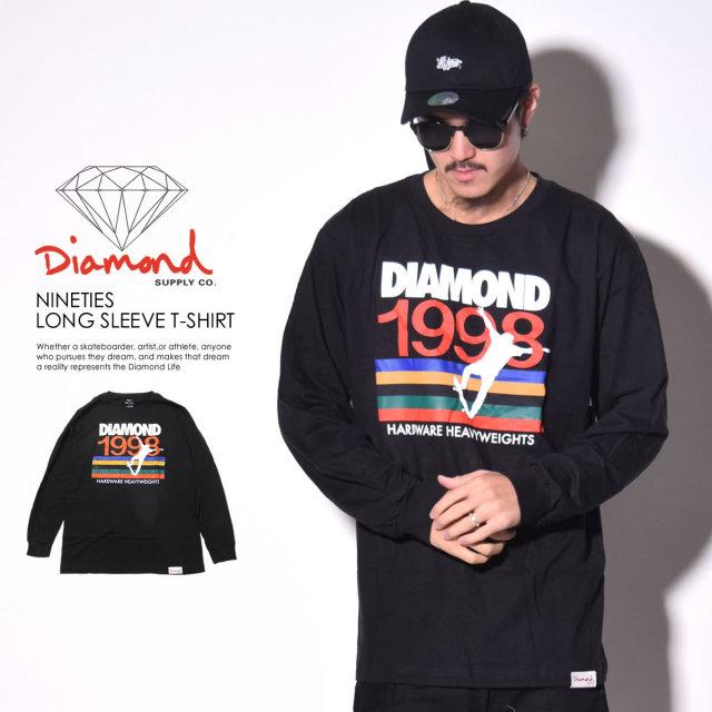 DIAMOND SUPPLY CO. ダイヤモンドサプライ 長袖Tシャツ NINETIES LONG SLEEVE T-SHIRT D16DMPC12 6V7246
