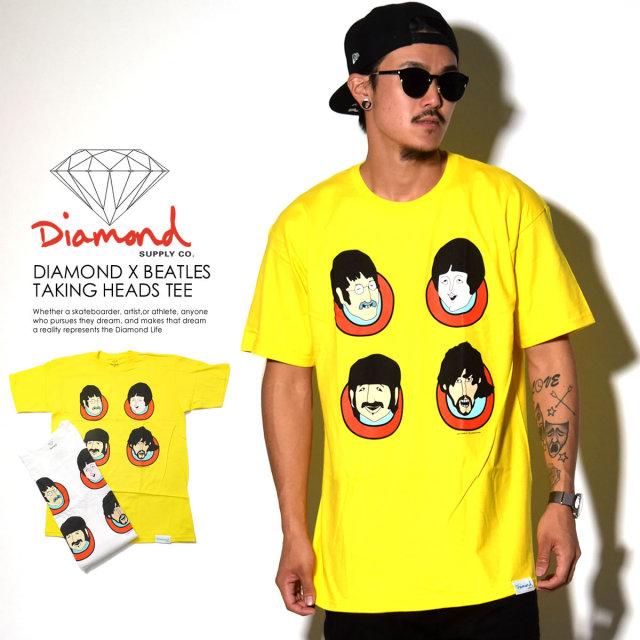 DIAMOND SUPPLY CO ダイヤモンドサプライ 半袖Tシャツ コラボ DIAMOND×BEATLES TAKING HEADS TEE A16DMPA47 6V8019