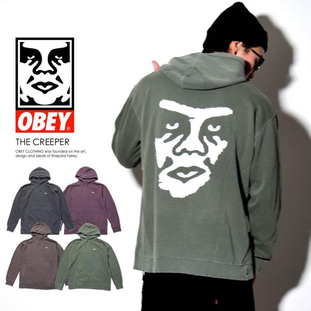 OBEY オベイ プルオーバーパーカー THE CREEPER 112601247S 6V8111