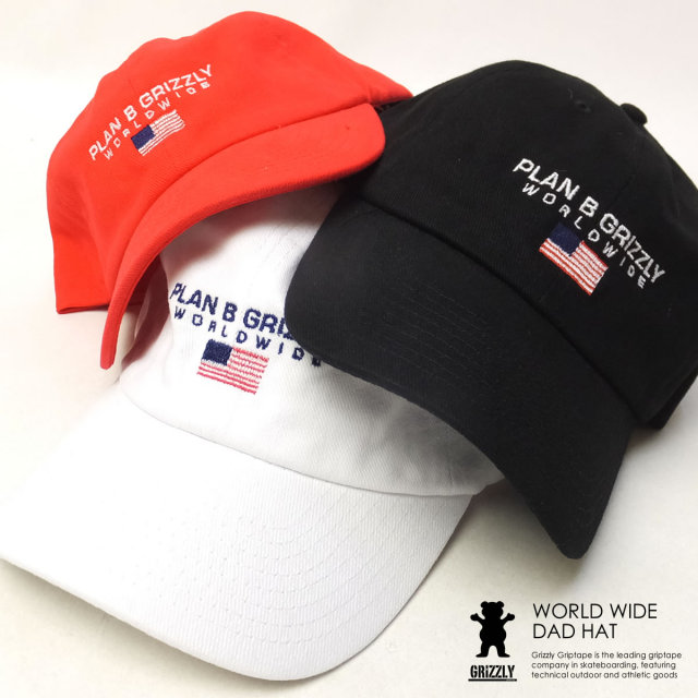 Grizzly Griptape グリズリーグリップテープ ロークラウンキャップ WORLD WIDE DAD HAT SMD1635A03 6V8141