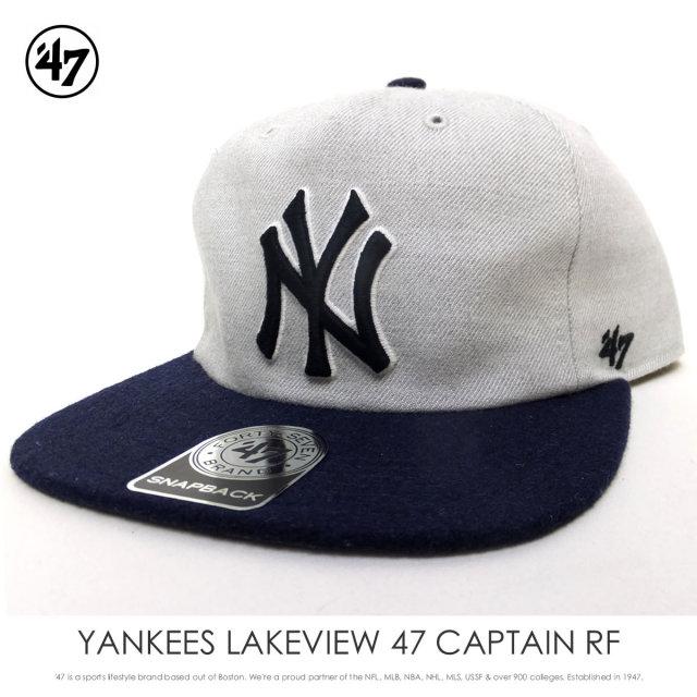 フォーティーセブンブランド 47BRAND キャップ 帽子 メンズ ニューヨーク・ヤンキース YANKEES LAKEVIEW 47 CAPTAIN RF (LAKVI17WH)