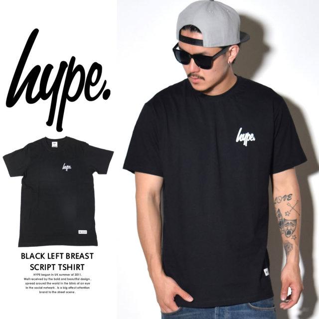 HYPE ハイプ 半袖Tシャツ WHITE LEFT BREAST SCRIPT TSHIRT BASIC008 6V9100