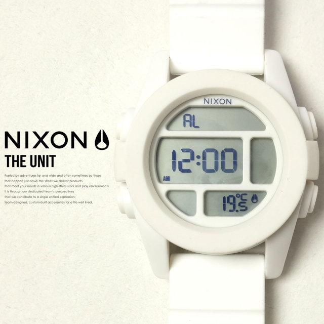 NIXON ニクソン リストウォッチ THE UNIT WHITE A197100 6V9107