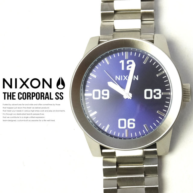 NIXON ニクソン リストウォッチ THE CORPORAL SS BLUE-SUNRAY A3461258 6V9109