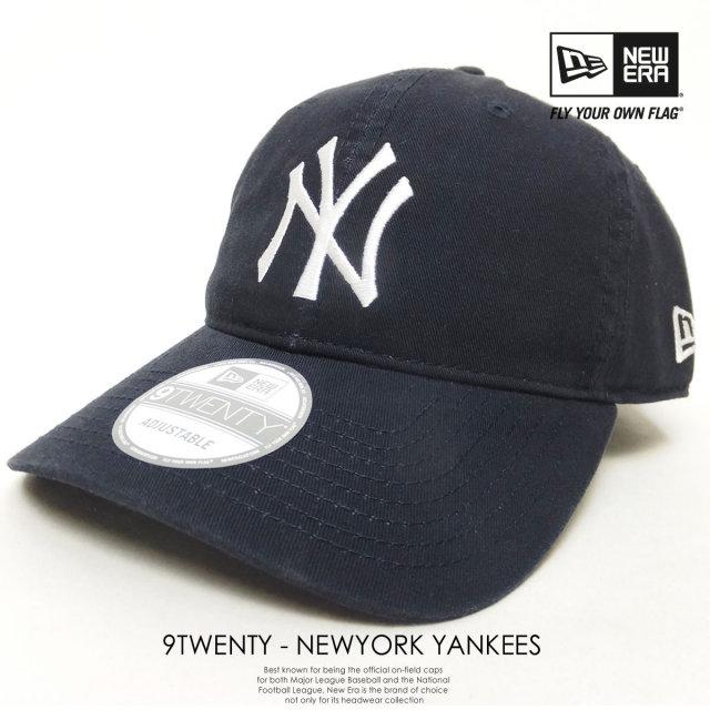 NEW ERA ニューエラ 6パネルキャップ 9TWENTY CLOTH STRAP WASHED COTTON ニューヨーク・ヤンキース ネイビー×ホワイト 11308520 6V9160