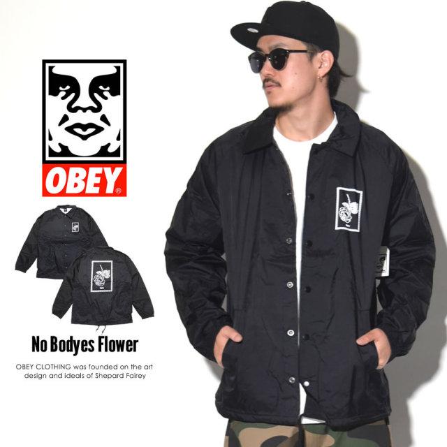 OBEY オベイ コーチジャケット NO BODY'S FLOWER 125001403 7V1189