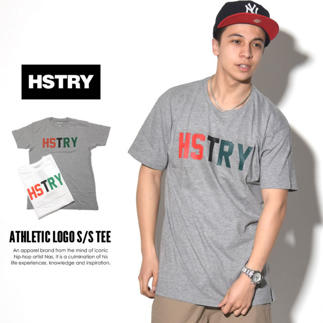 HSTRY ヒストリー 半袖Tシャツ ATHLETIC LOGO S/S TEE HY-41818 7V1412