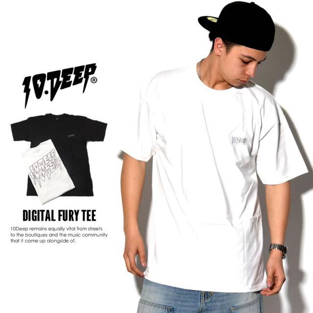 10DEEP テンディープ 半袖Tシャツ DIGITAL FURY TEE 71TD4306 7V1417