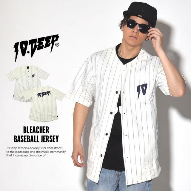 10DEEP テンディープ ベースボールシャツ BLEACHER BASEBALL JERSEY 71TD4227 7V1439