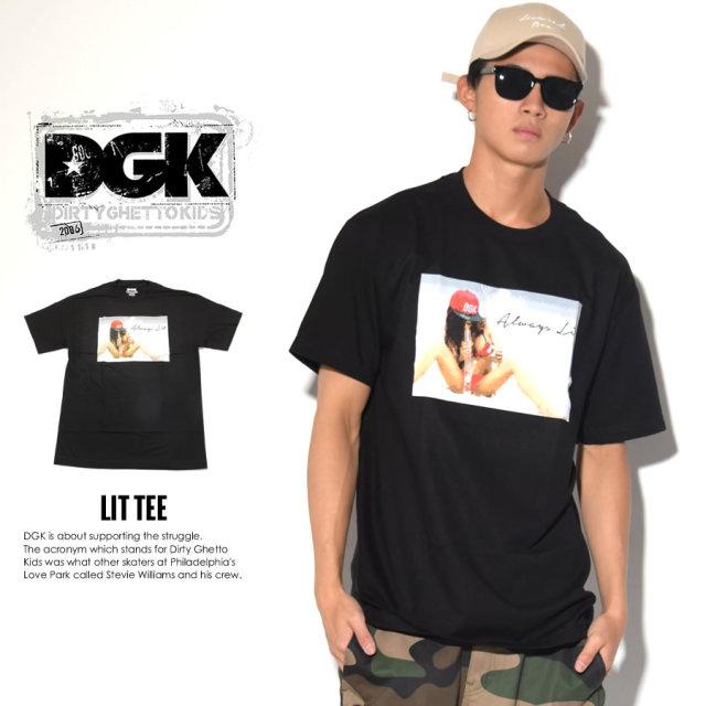 ディージーケー DGK Tシャツ メンズ 半袖 POPTEE (DT-3582)