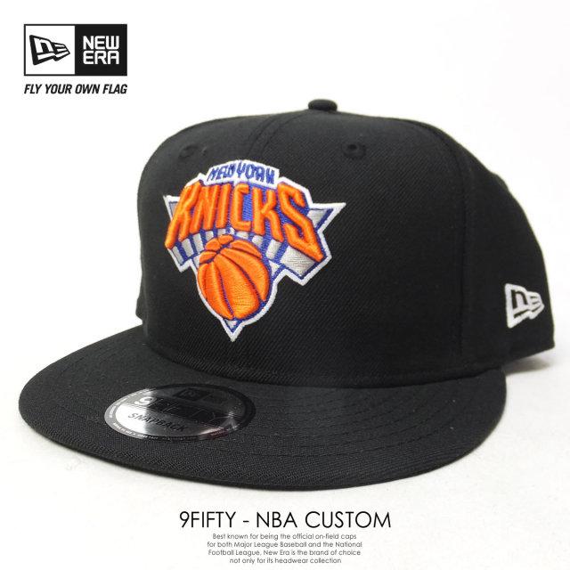 NEW ERA ニューエラ スナップバックキャップ 9FIFTY NBA ニューヨーク・ニックス ブラック×チームカラー 70349711 7V2095