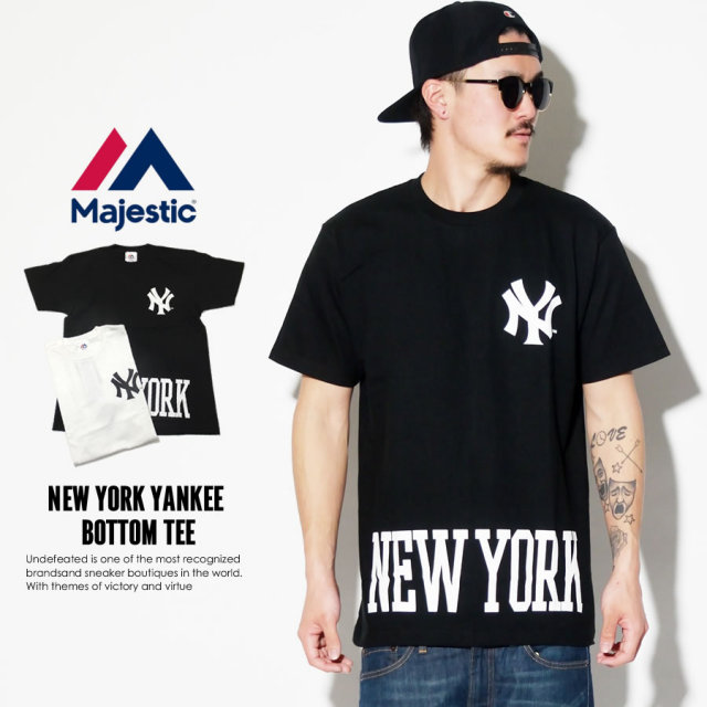 MAJESTIC マジェスティック 半袖Tシャツ NEW YORK YANKEES BOTTOM TEE MM01-NYK-0270 7V3010